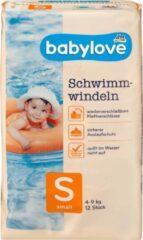 Babylove Baby zwemluiers Maat S, 4-9 kg, 12 stuks