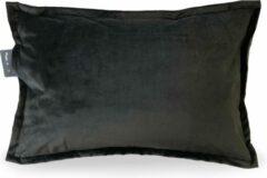 Sit & Heat - Warmtekussen Rectangle Zwart 40 x 60 cm voor binnen en buiten. [kussen van velours/Velvet/Fluweel]