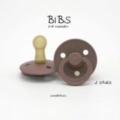 Bordeauxrode BIBS Fopspenen woodchuck, 6-18 m (2 stuks)