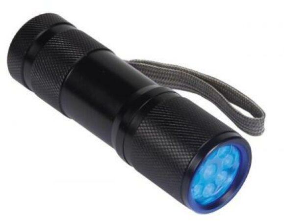 Afbeelding van Velleman UV-9 Zaklamp werkt op batterijen UV-LED 58 g