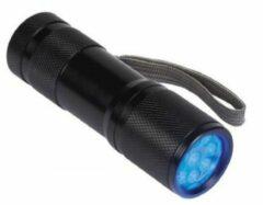 Velleman UV-9 Zaklamp werkt op batterijen UV-LED 58 g