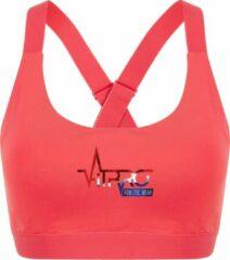 FitProWear Dames Sporttop Taurito - Koraal - Maat XXS - Sport Beha - Sport BH - Fitness kleding - Sporthemd - Sportshirt - Fitness top - Fitness BH - Fitness Beha - Taurito - Crop Top - Naadloze sporttop