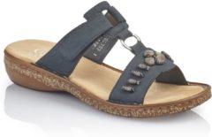 Donkerblauwe Rieker -Dames - blauw donker - slipper - muiltje - maat 40