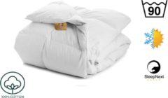 Witte SleepNext Zomer & Winter - 4 seizoenen - 100% katoenen dekbed - Kookwas 90c - 240x220cm