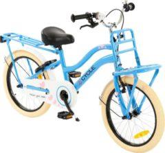 2Cycle Heart Kinderfiets - 18 inch - Voordrager - Blauw - Meisjesfiets
