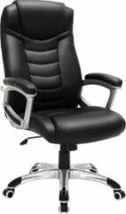 Zilveren EKEO - Premium - Design Manager Bureaustoel - Ergonomische Directiestoel - Kunstleer - Zware Belasting - Zwart