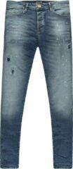Blauwe Cars skinny jeans Aron dark denim