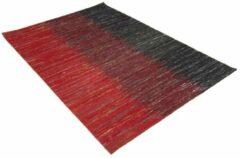 Perezvloerkleden.nl Modern tapijt - Miles zwart - rood 140x70cm