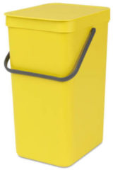 Gele Brabantia Sort & Go afvalemmer, 16 liter