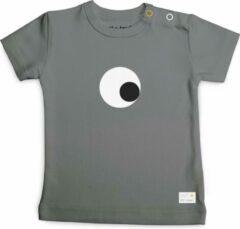 Donkergrijze Olli + Jeujeu Baby T-shirt 74