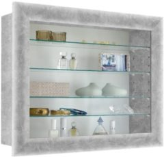 FD Furniture Vitrine Hangkast Bora 63 cm breed - Grijs beton