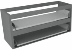 Antraciet-grijze Sub 16 wastafelonderkast met 2 lades zonder fronten 120 x 52 cm, antraciet