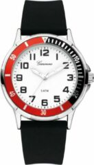 Garonne kinderhorloge 35 mm staal/rubber zwart-wit-rood KQ12Q465