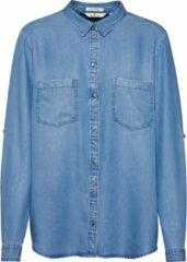 Donkerblauwe Tom Tailor blouse denim tencel Blauw Denim-36 (s)