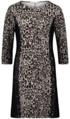 Jerseykleid mit Leoprint Betty Barclay Black-Nature - Grau