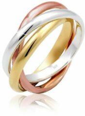 Elli Dames Ringen Dames Trio Basic Wikkelring in 925 Sterling Zilver verguld