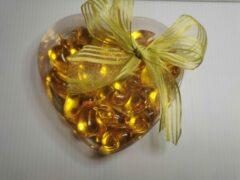 Merkloos / Sans marque Superleuk doosje in hartvorm met 20 eendjes badparels ook leuk als geschenk