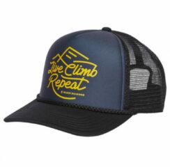 Black Diamond - Flat Bill Trucker Hat - Pet maat One Size, zwart/blauw