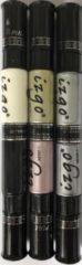 Roze IZGO Naildesign 2 in 1 Nagellak DUO Nail Art Pen Metallic Shine set + zwart en wit pen