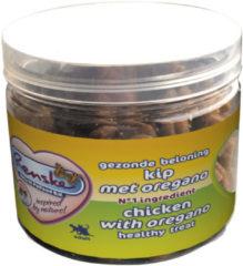 Renske Kat Beloning Hartjes 100 g - Kattensnack - Kip&Oregano