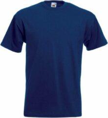 Marineblauwe Fruit of the Loom Set van 3x stuks grote maten basic navy blauw t-shirts voor heren - voordelige katoenen shirts - Herenkleding, maat: 4XL (48/60)