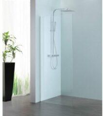 Royal Plaza Parri walk-in 80x200cm zilver profiel en helder glas met clean coating 11424