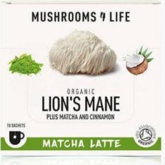Mushrooms4Life - Lion's Mane Matcha Latte - 10 zakjes