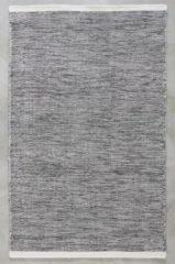 MOMO Rugs - Teppe Black White Vloerkleed - 200x300 cm - Rechthoekig - Laagpolig, Structuur Tapijt - Industrieel, Landelijk, Scandinavisch - Zwart wit