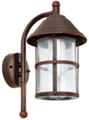 Bruine EGLO San Telmo - Buitenverlichting - Wandlamp - 1 Lichts - Antiek-Bruin - Helder