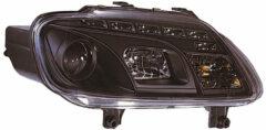AutoStyle Set Koplampen DRL-Look passend voor Volkswagen Touran 2003-2006 & Caddy II 2004-2010 - Zwart