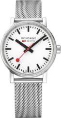 Paarse Mondaine evo2 MSE.35110.SM Horloge - Edelstaal - Zilverkleurig - Ø35 mm