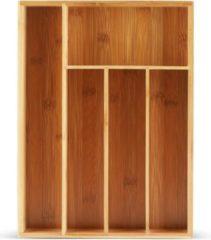 EDENBERG Edënbërg Bestekbak - Bamboe Hout - 26 x 35.5 x 5 cm - 5 Vaks
