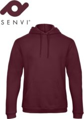 Bordeauxrode Fruit of the Loom Senvi Authentic Hoodie Kleur Burgundy - Maat S