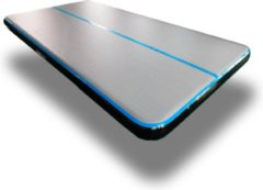 Dutchairtrack AirTrack Pro type 2021- Turnmat - Gymnastiek blauw zwart| 4 x 2 x 0,20 meter | Sporten & Spelen | Buiten & Binnen | Waterproof | Met elektrische pomp