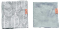 Grijze Witlof for kids hydrofiele doek 80x80 cm Beleaf warm grey - set van 2