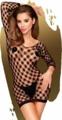 Penthouse Lingerie Sexy Lingerie - Jurk - Bodystocking - Passion goddess - Zwart - XL - PENTHOUSE - Luxe Verpakking