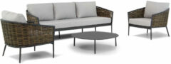 Antraciet-grijze Coco Palm/Pacific 100cm stoel-bank loungeset 4-delig