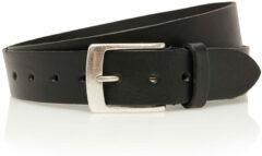 4cm jeans riem zwart Timbelt 443 - Maat 105 - Totale lengte riem 120 cm