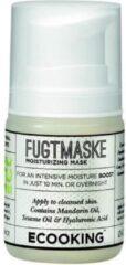 Transparante Ecooking Moisturizing Mask - Hydraterend Gezichtsmasker - Met Sheaboter, Rozenolie & Hyaluronzuur - Directe Hydratatie Boost - Vegan Formule - Airless Pompdispenser 50 ml