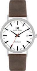 Zilveren Danish Design titanium herenhorloge Rhine White Grey Date Large IQ14Q1273