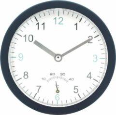 JAP Clocks AC80 Badkamerklok - Ophangbaar en zelfstandig - Ronde wandklok - Ø14 cm - Wand klok Zuignappen - Muurklok - Blauw