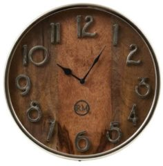 Zilveren Riviera Maison Madison Avenue Wall Clock