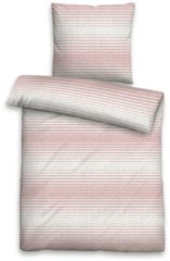 Rosa Bettwäsche, Biberna, »Jessi«, mit feinen Streifen