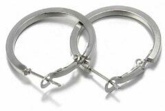 Fako Bijoux® - Oorringen - Stainless Steel - 40mm - Zilverkleurig
