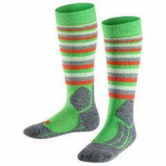 Falke - Kid's SK 2 Trend - Skisokken maat 31-34, groen/grijs