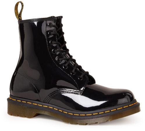 Afbeelding van Dr. Martens DR. DOC MARTENS 1460 Patent Lamper - Dames Boots Laarzen Zwart 11821011 - Maat EU 36 UK 3