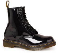 Dr. Martens Dames Laars 1460 W Black Patent Lamber Boots Zwart