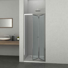 Badstuber Elite douche vouwdeur chroom 90x195cm anti-kalk