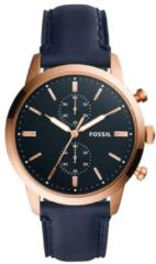 Fossil Herenhorloge Townsman Chronograaf rosékleurig-blauw 44 mm FS5436