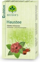 Neuner's - BIO - Huisthee, traditionele biologische rozenbottel thee, hibiscus thee, ontbijt thee met pepermunt en melisse thee - 1 doosje met 20 zakjes kruidenthee, goed voor 10 liter thee, frisse smaak, heel geschikt als kinderthee, ijsthee